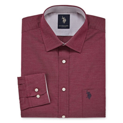 U.S. Polo Assn. Dress Shirt Big And Tall Long Sleeve Yarn Dyed Woven Dress Shirt