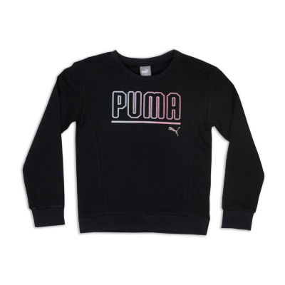 Puma Girls Apparel Long Sleeve Sweatshirt - Big Kid Girls