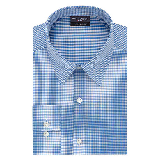 Van Heusen Flex 3 Long Sleeve Twill Dress Shirt - Slim