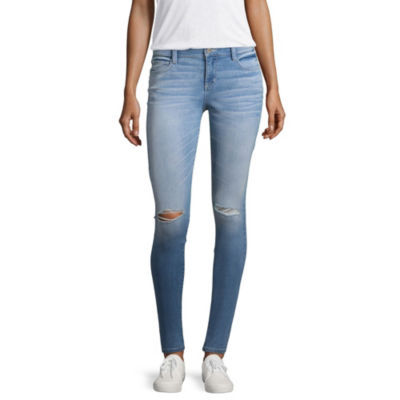 Arizona Skinny Fit Ripped Jeggings-Juniors