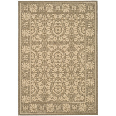 Safavieh Courtyard Collection Lucy Floral Indoor/Outdoor Area Rug