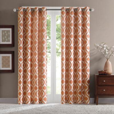 Madison Park Bergamo Grommet-Top Curtain Panel