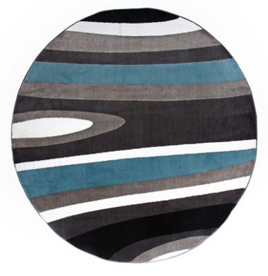 World Rug Gallery Abstract Contemporary Modern Round Area Rug