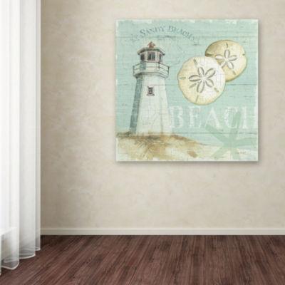 Trademark Fine Art Lisa Audit Beach House I GicleeCanvas Art