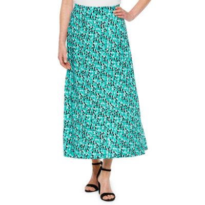 Black Label by Evan-Picone Womens Long Maxi Skirt