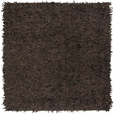 Safavieh Leather Shag Collection Akilah Solid Square Area Rug