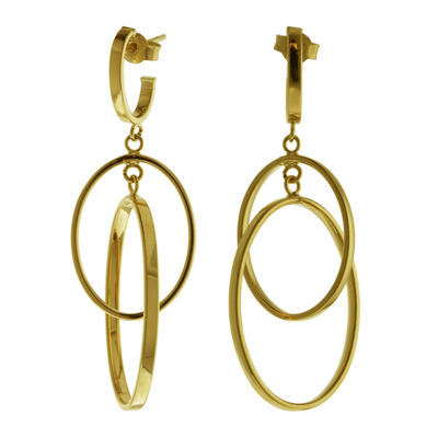Made In Italy 14K Gold 50mm Hoop Earrings