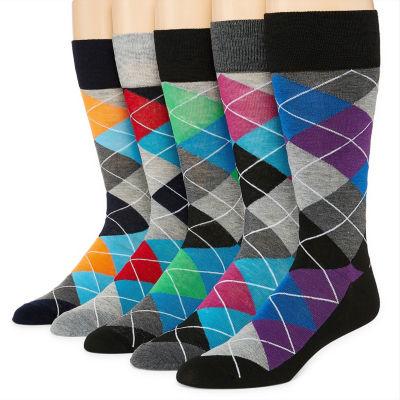 Stafford® 5-pk. Mens Crew Socks - Extended Size