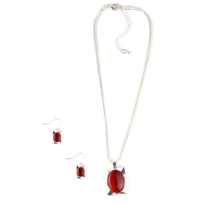 Mixit Womens Silver Tone 3-pc. Jewelry Set