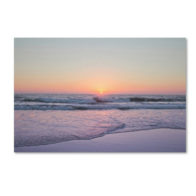 Trademark Fine Art Ariane Moshayedi Beach at Sunset Giclee Canvas Art