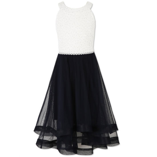 Speechless Embellished Sleeveless Shift Dress - Big Kid Girls Plus
