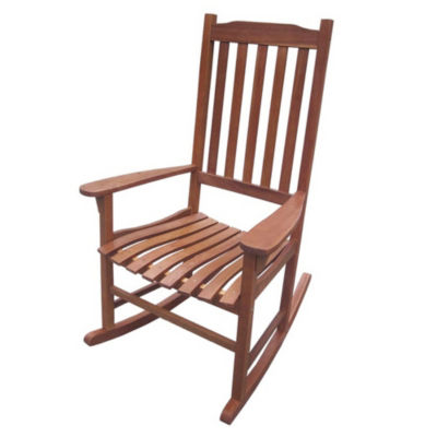 Northbeam Traditional Stained Wood Rocking Chair