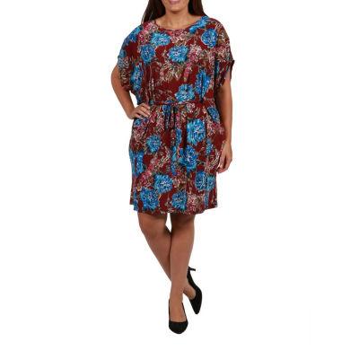 24/7 Comfort Apparel Blouson Dress-Plus