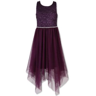 Speechless Embellished Sleeveless Shift Dress - Big Kid Girls Plus