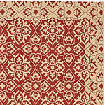 Safavieh Courtyard Collection Spots Oriental Indoor/Outdoor Runner Rug