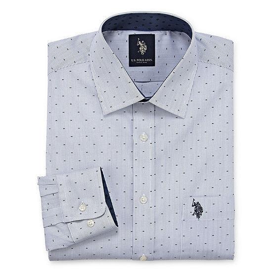 U.S. Polo Assn. Dress Shirt Big And Tall Mens Spread Collar Long Sleeve Dress Shirt
