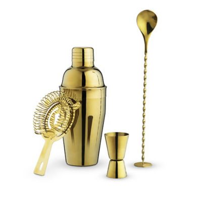 Gold Barware Set By True