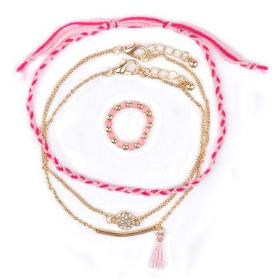 Arizona Womens Gold Tone 4-pc. Jewelry Set