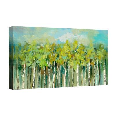 April Tree Tops Canvas Art