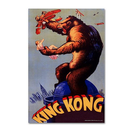 Trademark Fine Art Lantern Press King Kong Giclee Canvas Art