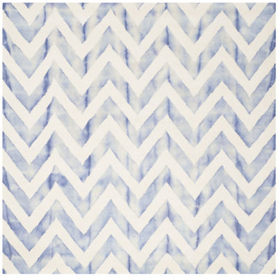 Safavieh Dip Dye Collection Ronnie Chevron SquareArea Rug