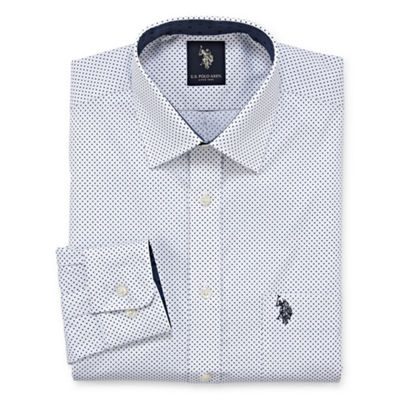 U.S. Polo Assn. Uspa Dress Shirt Big And Tall Long Sleeve Dots Dress Shirt