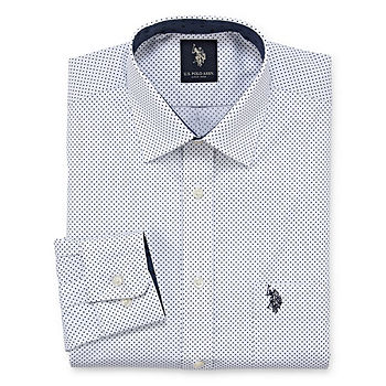 U.S. Polo Assn. Mens Spread Collar Long Sleeve Dress Shirt Big And Tall