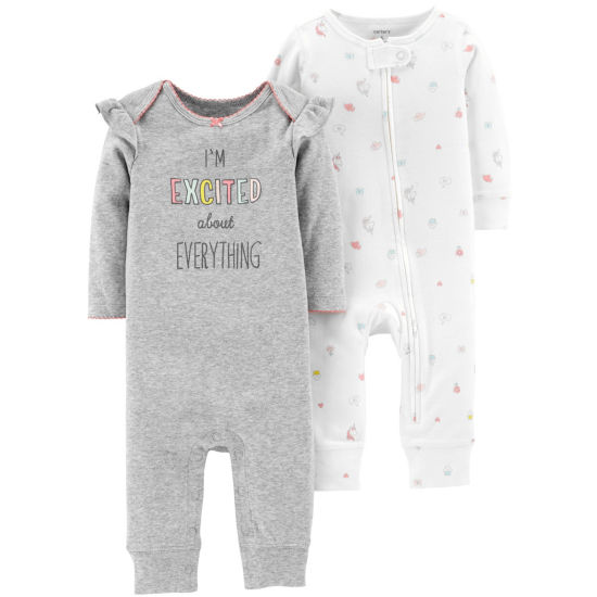 Carter's Little Baby Basics 2pk. Jumpsuit - Girls