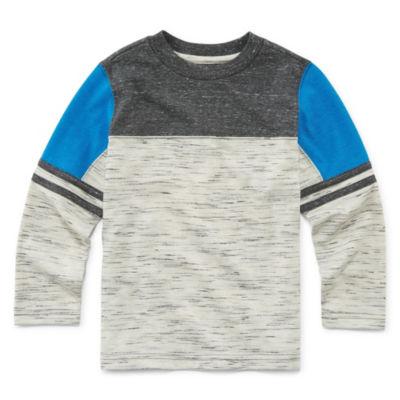 Okie Dokie Long Sleeve Henley Shirt-Toddler Boys