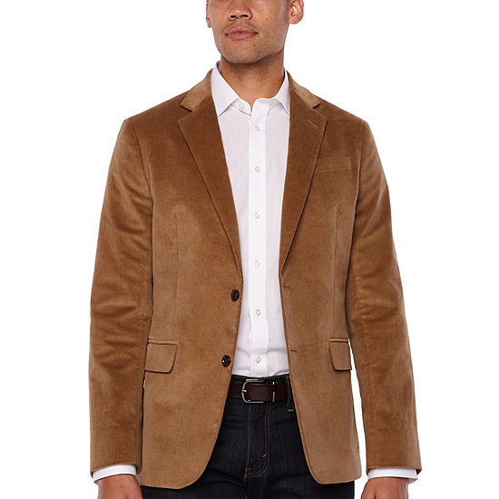 Stafford Corduroy Stretch Classic Fit Full Lined Sport Coat