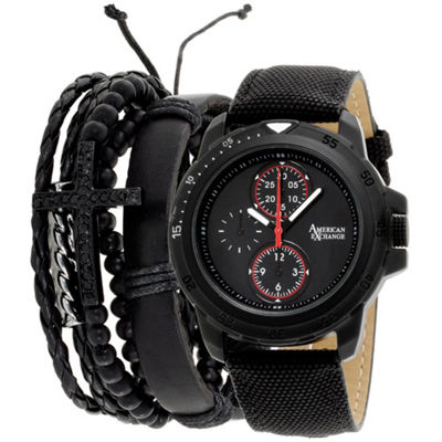 Womens Black Bracelet Watch-Mst5465bk100-362