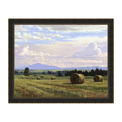 Fresh Cut Hay Framed Print