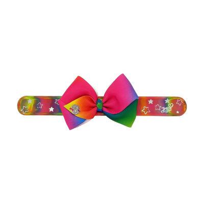 JoJo Siwa Signature Rainbow Star Slap Bracelet With Rainbow Bow.