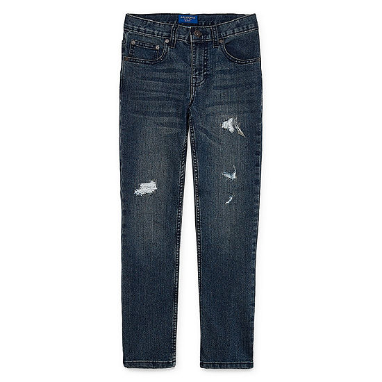 Arizona Little Kid / Big Kid Boys Ripped Stretch Straight Leg Jean