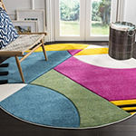 Safavieh Hollywood Collection Connie Abstract Round Area Rug