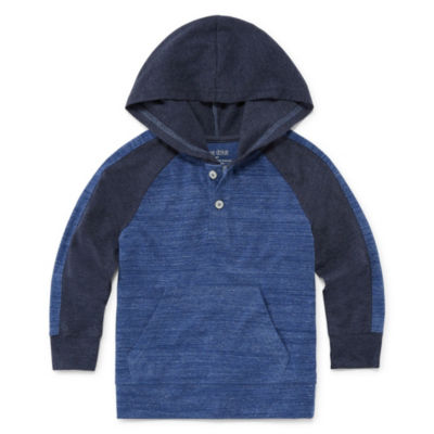 Okie Dokie Long Sleeve Henley Shirt-Toddler Boys