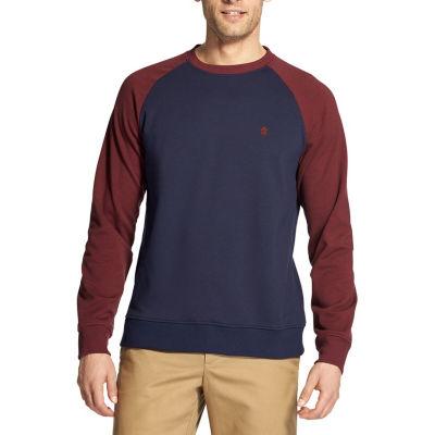 IZOD Mens Round Neck Long Sleeve Sweatshirt
