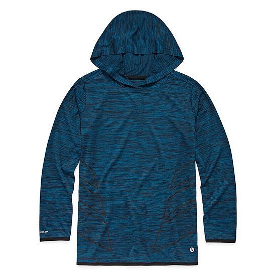 Xersion Boys Hooded Neck Long Sleeve Dri-Fit T-Shirt Preschool / Big Kid