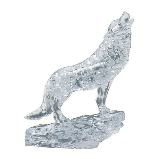 Be Puzzled 3D Crystal Puzzle - Wolf (Black): 38 Pcs