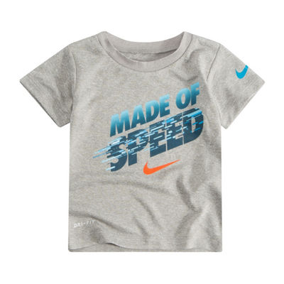 Nike Boys Crew Neck Short Sleeve Dri-Fit Graphic T-Shirt-Preschool