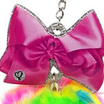 JoJo Siwa Signature Multi Color Pom With Pink Bow.