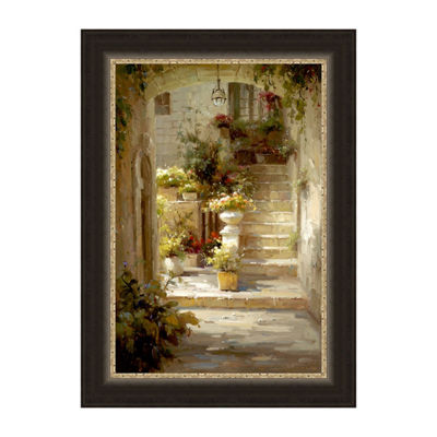 Hidden Courtyard Framed Print