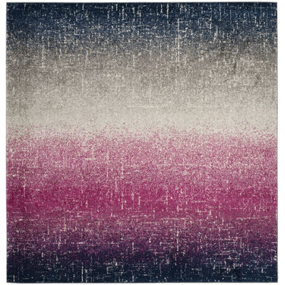 Safavieh Madison Collection Becky Abstract SquareArea Rug
