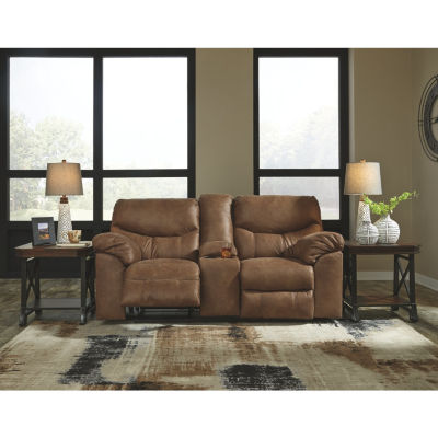 Signature Design By Ashley® Boxberg Reclining Loveseat With Console