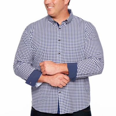 Society Of Threads 4 Way Stretch Long Sleeve Sport Button-Down Shirt-Big and Tall