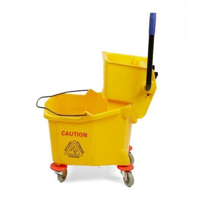 Mind Reader 36 Liter Mop Wringer Trolley, Yellow