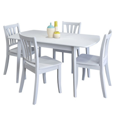 CorLiving Dillon 5pc Extendable Oblong Wooden Dining Set