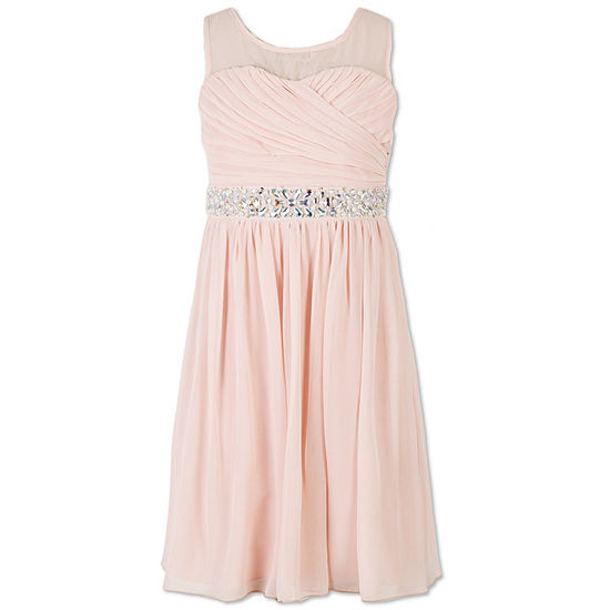 Speechless Girls Embellished Sleeveless Party Dress - Big Kid