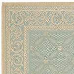 Safavieh Courtyard Collection Jennie Geometric Indoor/Outdoor Area Rug