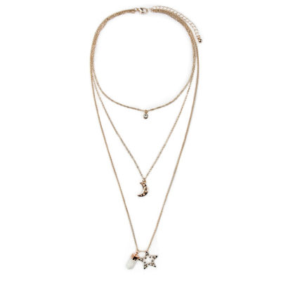 Arizona Womens 3-pc. Clear Necklace Set